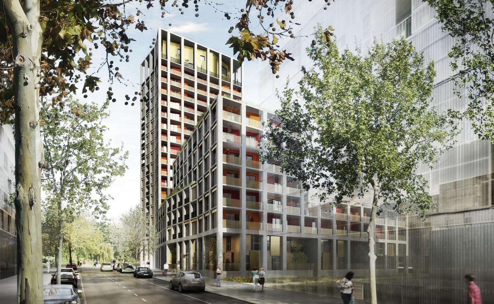 Concours collectif tour ZAC Baud Chardonnet Rennes réalisation