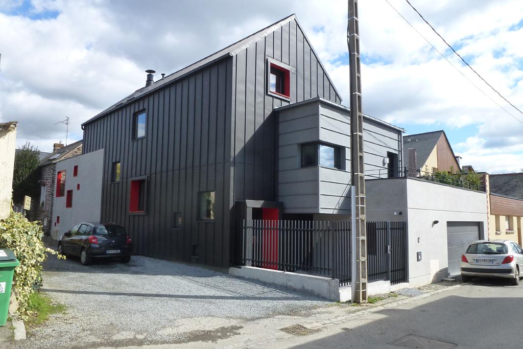 maison individuelle contemporaine Rennes