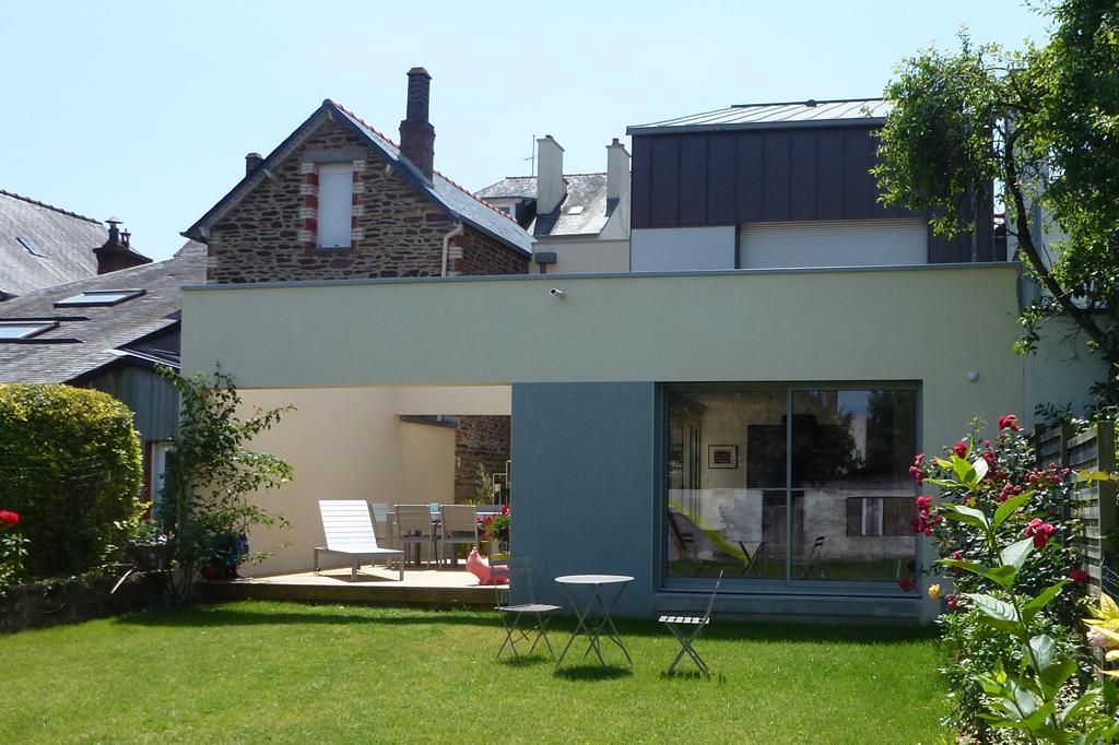 maison individuelle mitoyenne Rennes terrasse