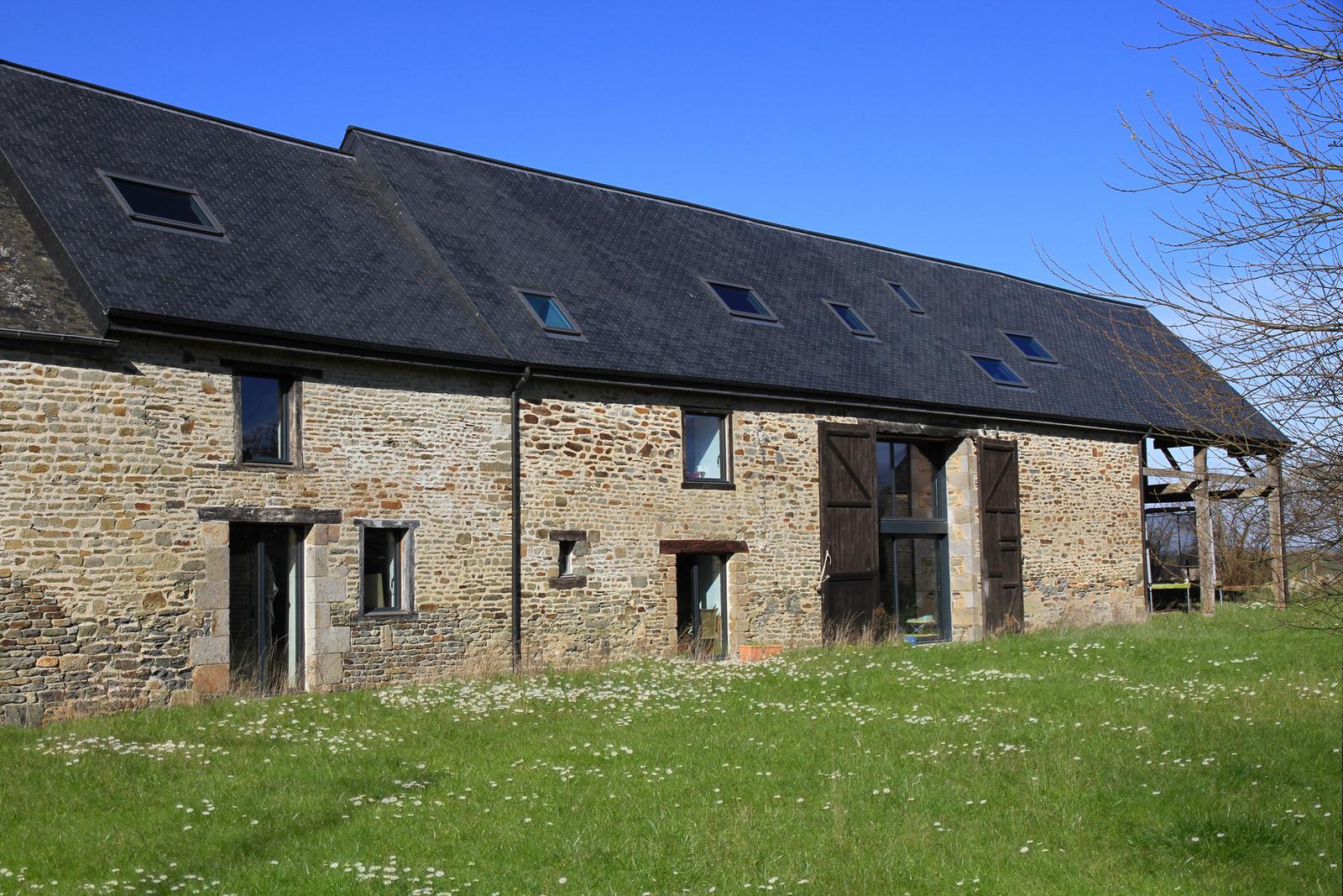 Réhabilitation extension maison longère Céaux