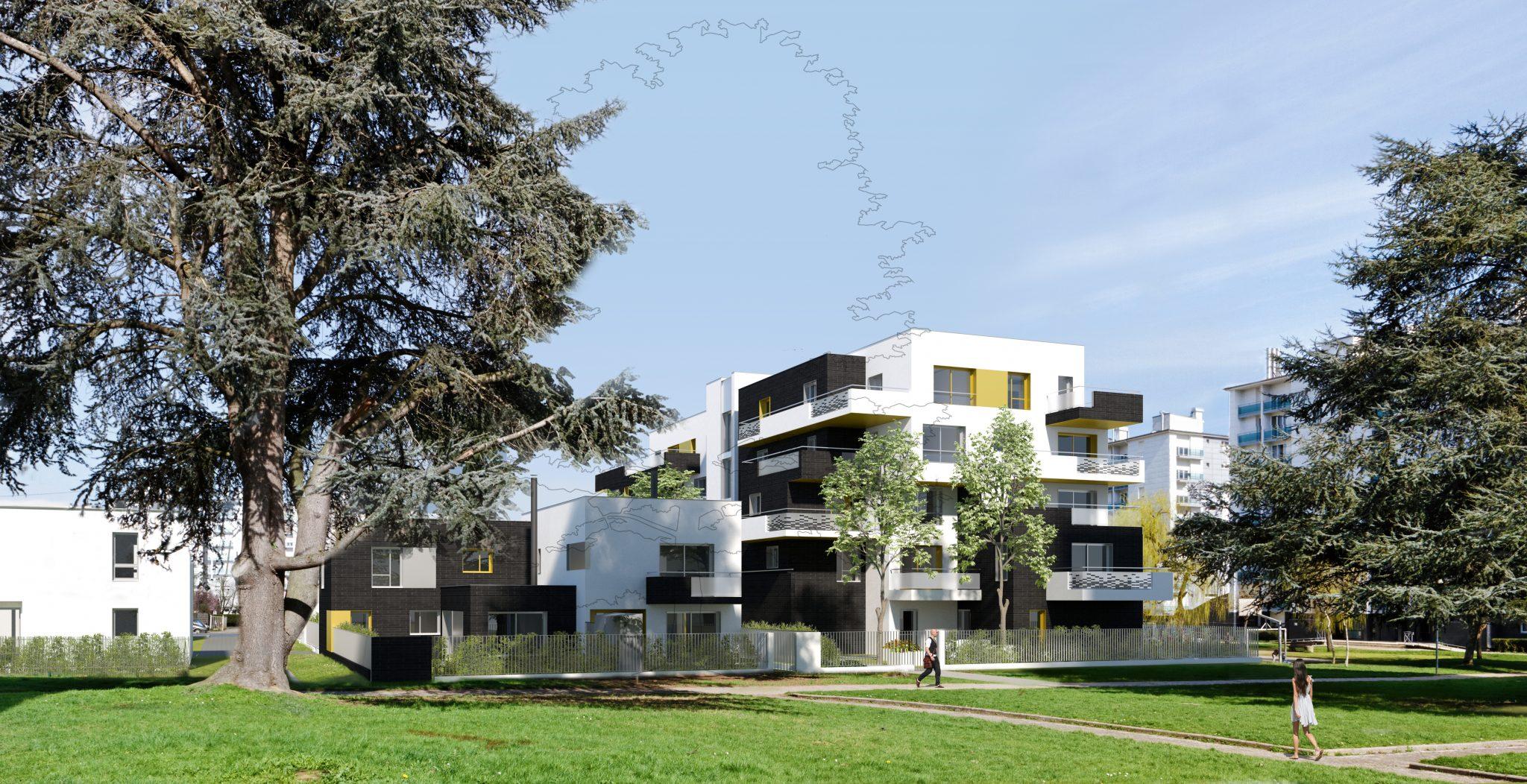 Logement collectif maisons de ville ZAC Maurepas Gayeulles Rennes sud