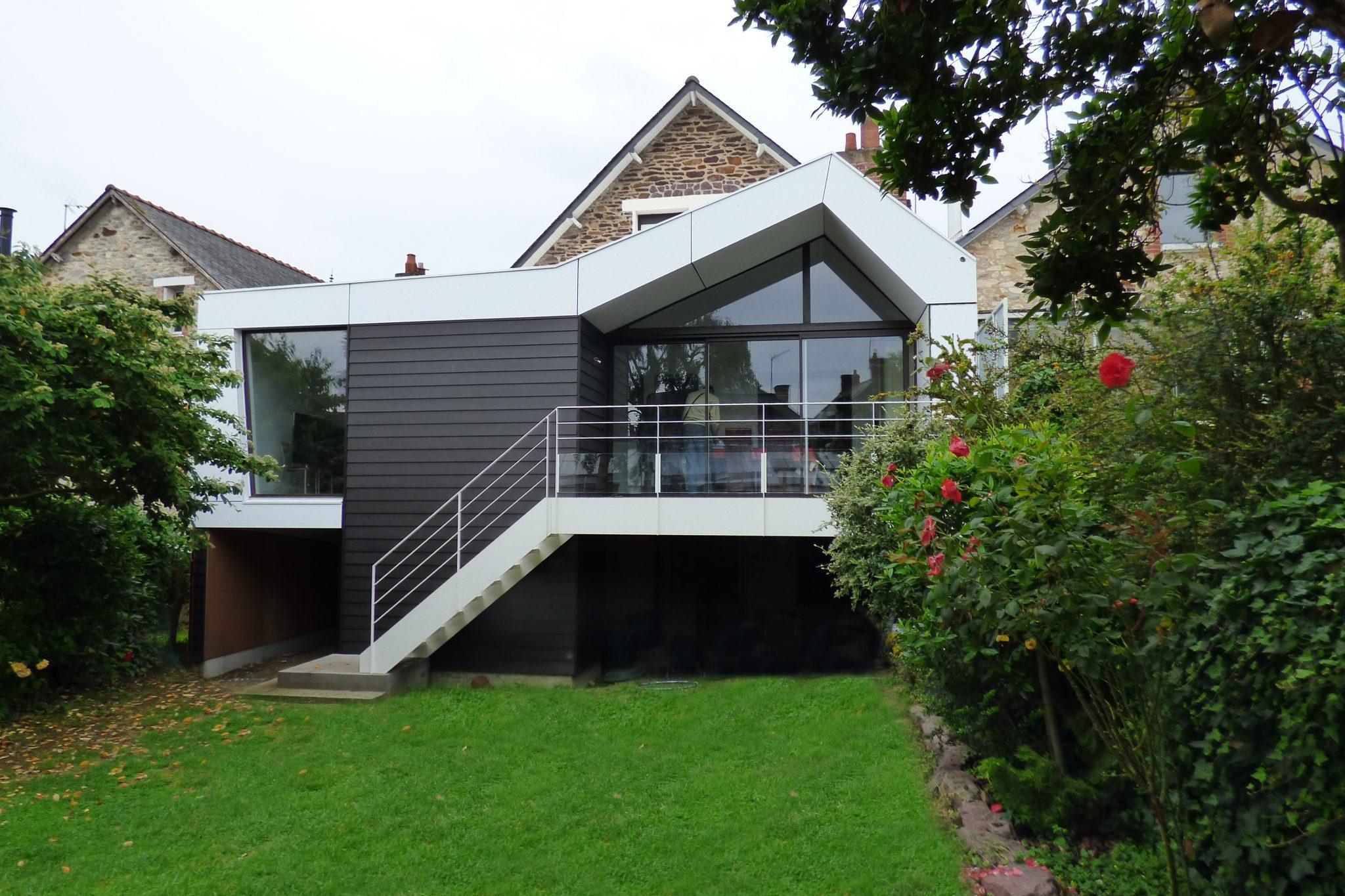 Extension maison Rennes jardin