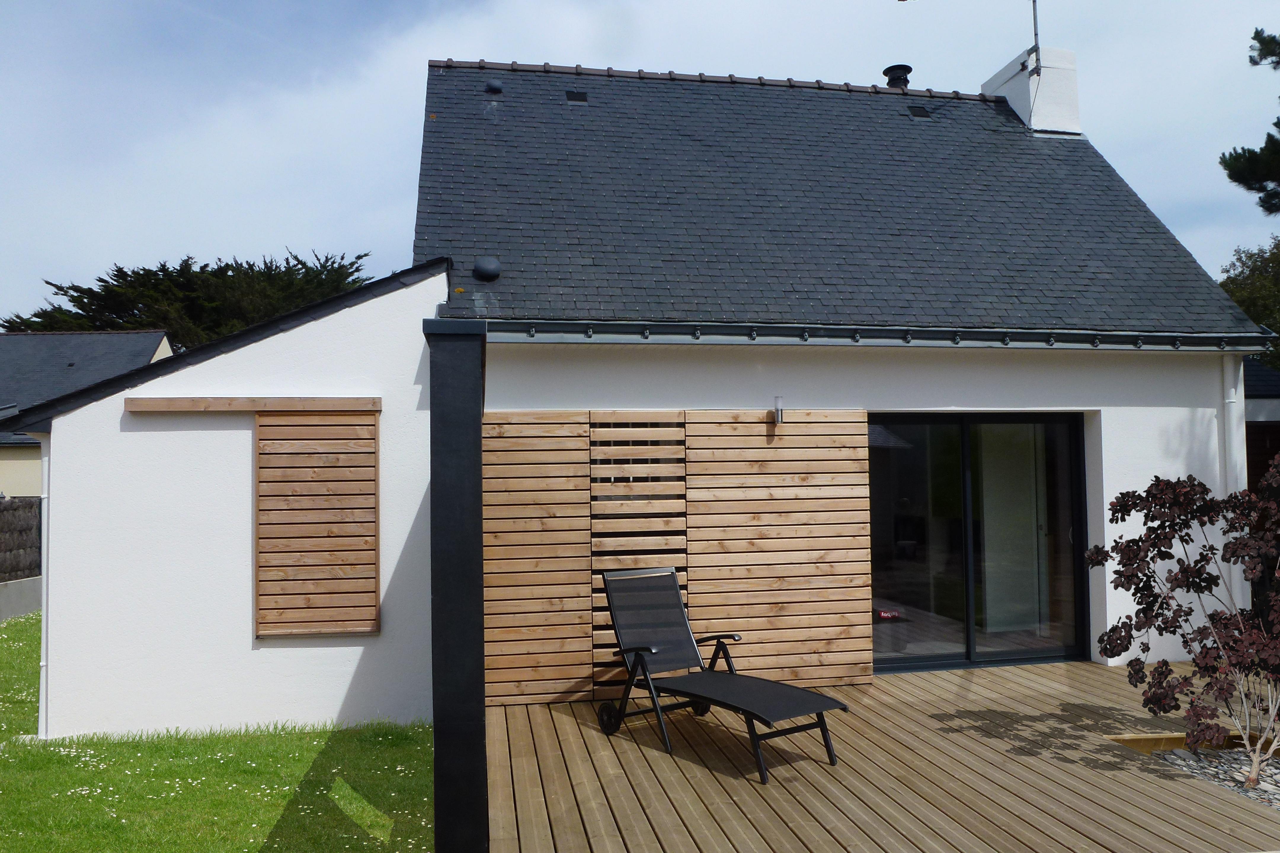 Agrandissement Maison Néo Bretonne extension maison individuelle, portivy (56) - a'dao